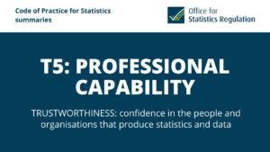 T5: Professional Capability